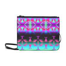 Between the Rocky Mountains Slim Clutch Bag (Model 1668) Slim Clutch Bags (1668) e-joyer
