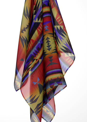 Between the San Juan Mountains Large Square Chiffon Scarf fashion-scarves 49 Dzine