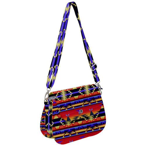 Between The San Juan Mountains Saddle Handbag cross-body-handbags 49 Dzine