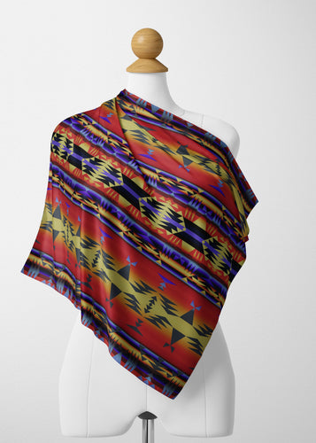 Between the San Juan Mountains Satin Shawl Scarf 49 Dzine