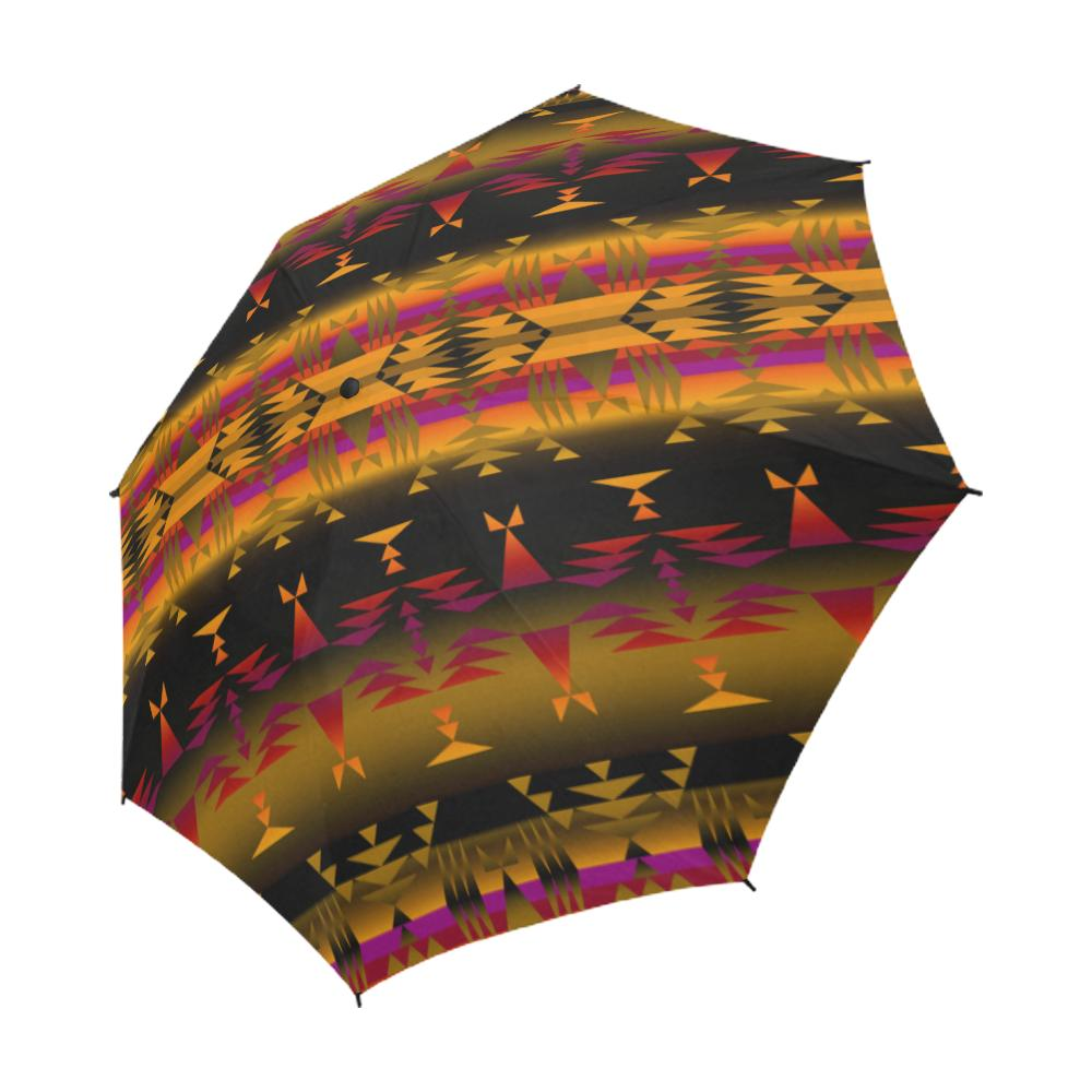 Between the Sierra Mountains Semi-Automatic Foldable Umbrella Semi-Automatic Foldable Umbrella e-joyer
