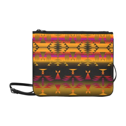 Between the Sierra Mountains Slim Clutch Bag (Model 1668) Slim Clutch Bags (1668) e-joyer