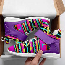 Between the Sunset Mountains Ipottaa Basketball / Sport High Top Shoes - White Sole 49 Dzine