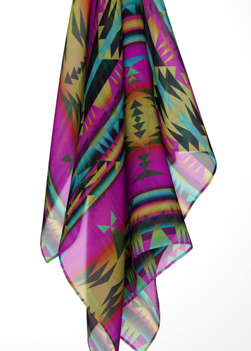 Between the Sunset Mountains Large Square Chiffon Scarf fashion-scarves 49 Dzine