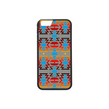 Big Pattern Fire Colors and Sky Gray iPhone 6/6s Case iPhone 6/6s Rubber Case e-joyer