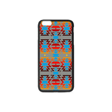 Big Pattern Fire Colors and Sky Gray iPhone 6/6s Plus Case iPhone 6/6s Plus Rubber Case e-joyer