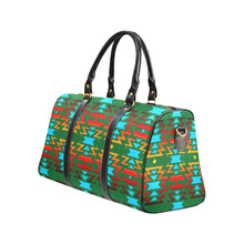 Big Pattern Fire Colors and Sky green New Waterproof Travel Bag/Large (Model 1639) Waterproof Travel Bags (1639) e-joyer