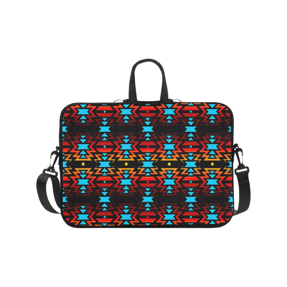 Big Pattern Fire Colors and Sky Laptop Handbags 17