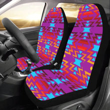 Big Pattern Fire Colors and Sky Moon Shadow Car Seat Covers (Set of 2) Car Seat Covers e-joyer