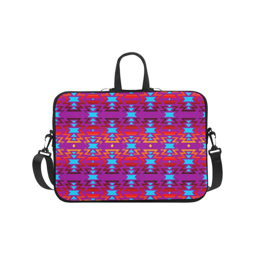 Big Pattern Fire Colors and Sky Moon Shadow Laptop Handbags 17