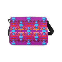 Big Pattern Fire Colors and Sky Moon Shadow Messenger Bag (Model 1628) Messenger Bags (1628) e-joyer
