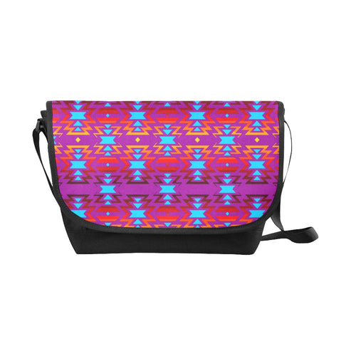 Big Pattern Fire Colors and Sky Moon Shadow New Messenger Bag (Model 1667) New Messenger Bags (1667) e-joyer
