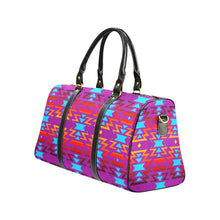 Big Pattern Fire Colors and Sky Moon Shadow New Waterproof Travel Bag/Large (Model 1639) Waterproof Travel Bags (1639) e-joyer