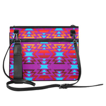 Big Pattern Fire Colors and Sky Moon Shadow Slim Clutch Bag (Model 1668) Slim Clutch Bags (1668) e-joyer