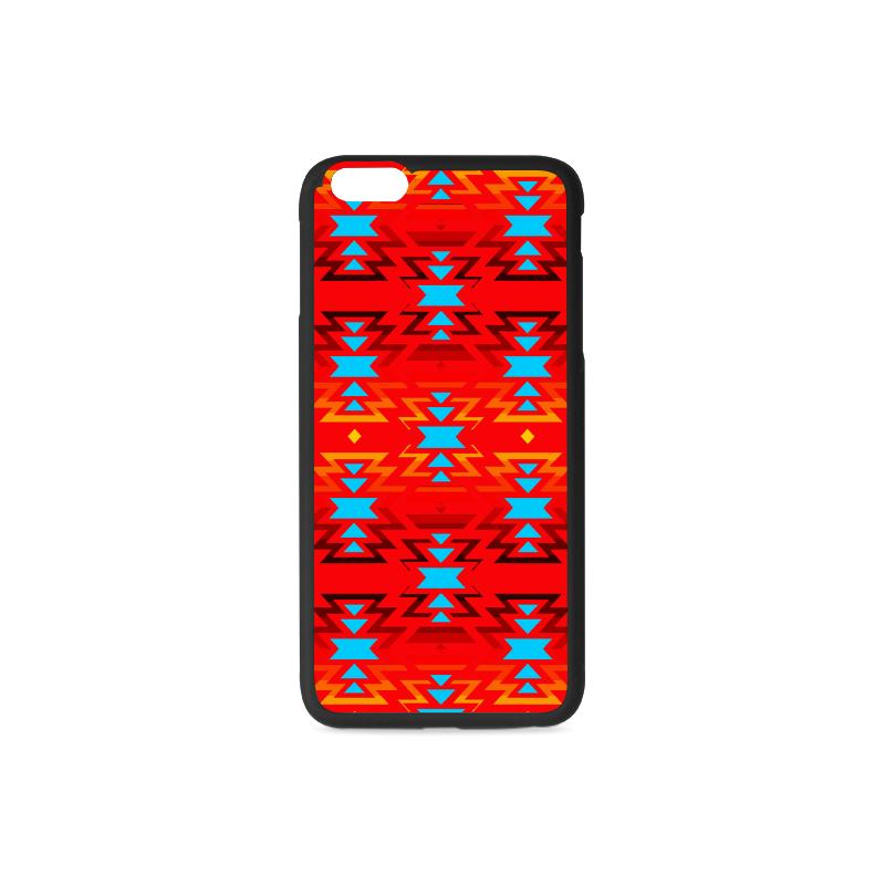 Big Pattern Fire Colors and Sky Sierra iPhone 6/6s Plus Case iPhone 6/6s Plus Rubber Case e-joyer
