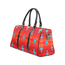 Big Pattern Fire Colors and Sky Sierra New Waterproof Travel Bag/Large (Model 1639) Waterproof Travel Bags (1639) e-joyer