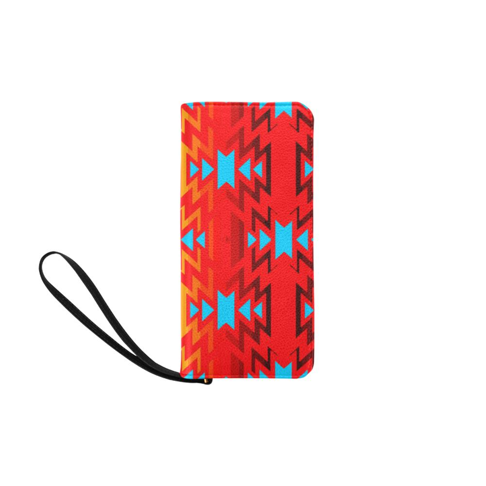 Big Pattern Fire Colors and Sky Sierra Women's Clutch Purse (Model 1637) Women's Clutch Purse (1637) e-joyer