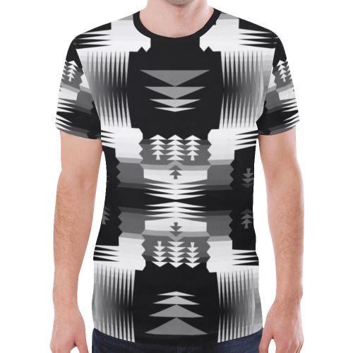 Black and White Sage New All Over Print T-shirt for Men/Large Size (Model T45) New All Over Print T-shirt for Men/Large (T45) e-joyer