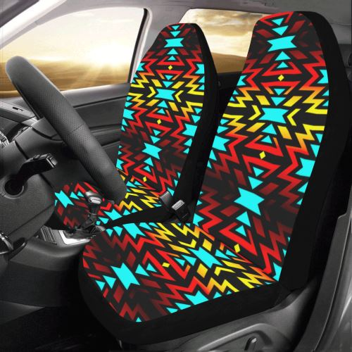 Black Fire and Sky Car Seat Covers (Set of 2) Car Seat Covers e-joyer
