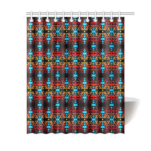 Black Fire and Sky Shower Curtain 60