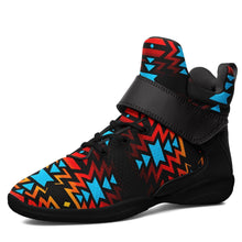 Black Fire and Turquoise Ipottaa Basketball / Sport High Top Shoes - Black Sole 49 Dzine US Men 7 / EUR 40 Black Sole with Black Strap
