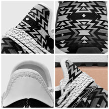 Black Fire Black and White Okaki Sneakers Shoes 49 Dzine