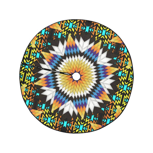 Black Fire Star Christmas Tree Skirt 47