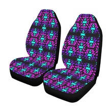 Black Fire Winter Sunset Car Seat Covers (Set of 2) Car Seat Covers e-joyer