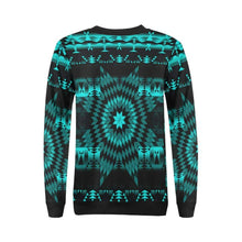 Black Sky Star All Over Print Crewneck Sweatshirt for Women (Model H18) Crewneck Sweatshirt for Women (H18) e-joyer