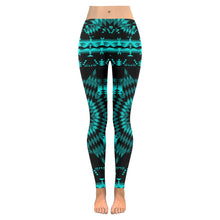 Black Sky Star Low Rise Leggings (Invisible Stitch) (Model L05) Low Rise Leggings (Invisible Stitch) (L05) e-joyer
