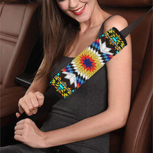 Blackfire and Turquoise Star Car Seat Belt Cover 7''x12.6'' Car Seat Belt Cover 7''x12.6'' e-joyer