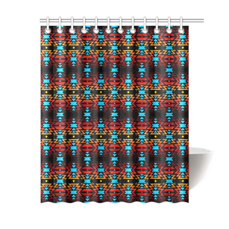 BlackFire7 Shower Curtain 60