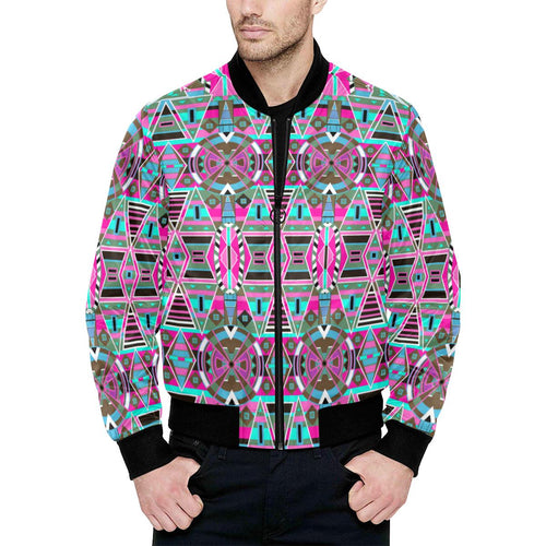 Blood Captive All Over Print Quilted Bomber Jacket for Men (Model H33) All Over Print Quilted Jacket for Men (H33) e-joyer