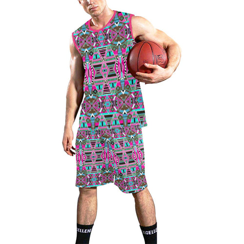 Blood Captive Large All Over Print Basketball Uniform Basketball Uniform e-joyer