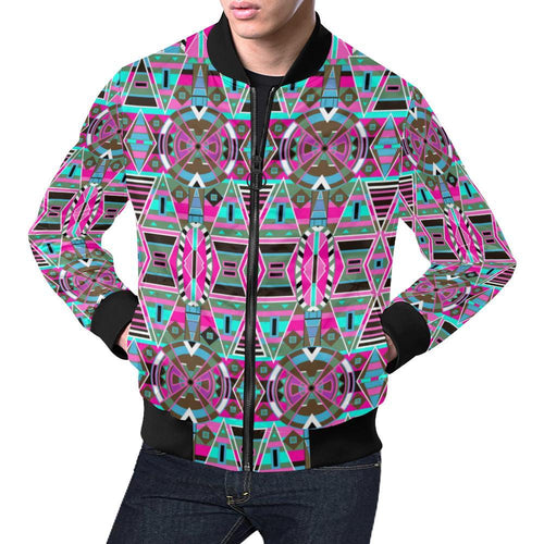 Blood Captive Large All Over Print Bomber Jacket for Men/Large Size (Model H19) All Over Print Bomber Jacket for Men/Large (H19) e-joyer