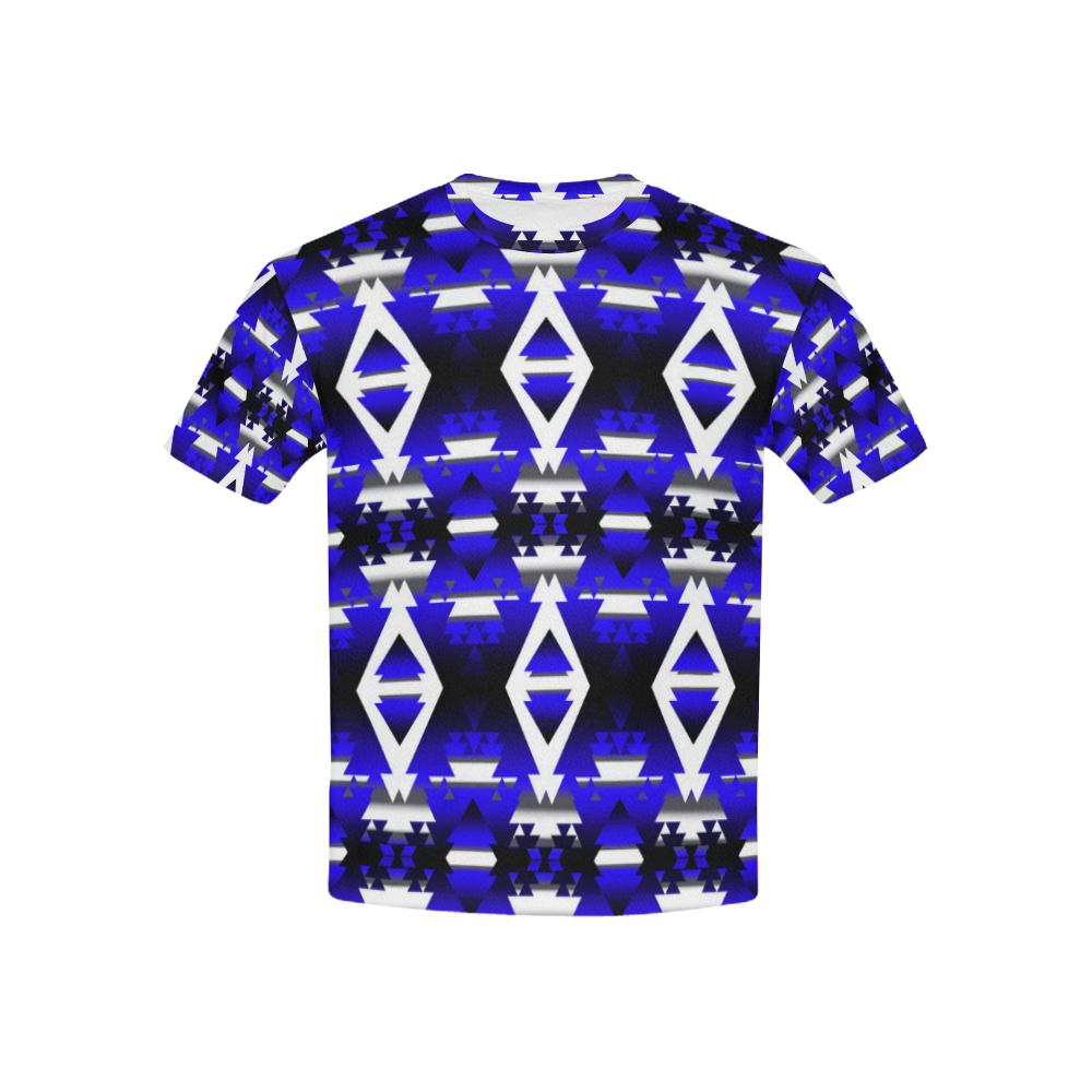Blue Winter Camp All Over Print T-shirt for Kid (USA Size) (Model T40) All Over Print T-shirt for Kid (T40) e-joyer