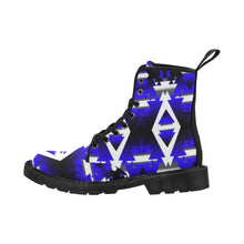 Blue Winter Camp Boots for Men (Black) (Model 1203H) Martin Boots for Men (Black) (1203H) e-joyer