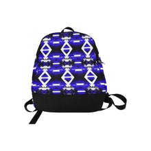Blue Winter Camp Fabric Backpack for Adult (Model 1659) Casual Backpack for Adult (1659) e-joyer
