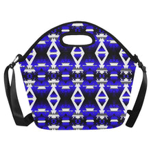 Blue Winter Camp Large Insulated Neoprene Lunch Bag That Replaces Your Purse (Model 1669) Neoprene Lunch Bag/Large (1669) e-joyer