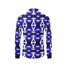 Blue Winter Camp Men's All Over Print Casual Dress Shirt (Model T61) Men's Dress Shirt (T61) e-joyer