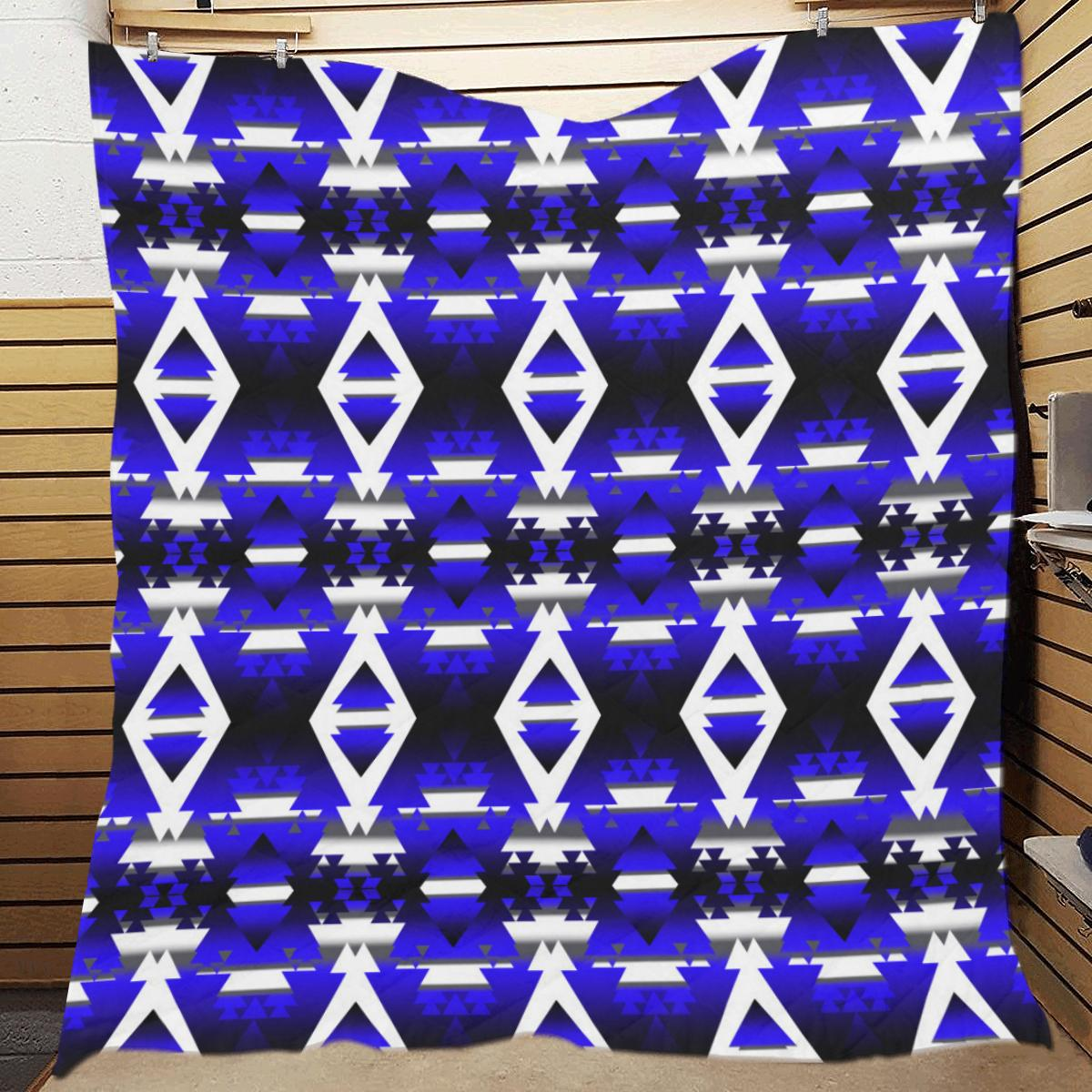 Blue Winter Camp Quilt 70