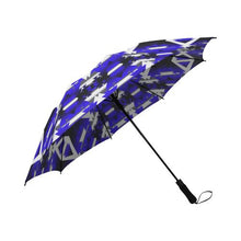 Blue Winter Camp Semi-Automatic Foldable Umbrella Semi-Automatic Foldable Umbrella e-joyer