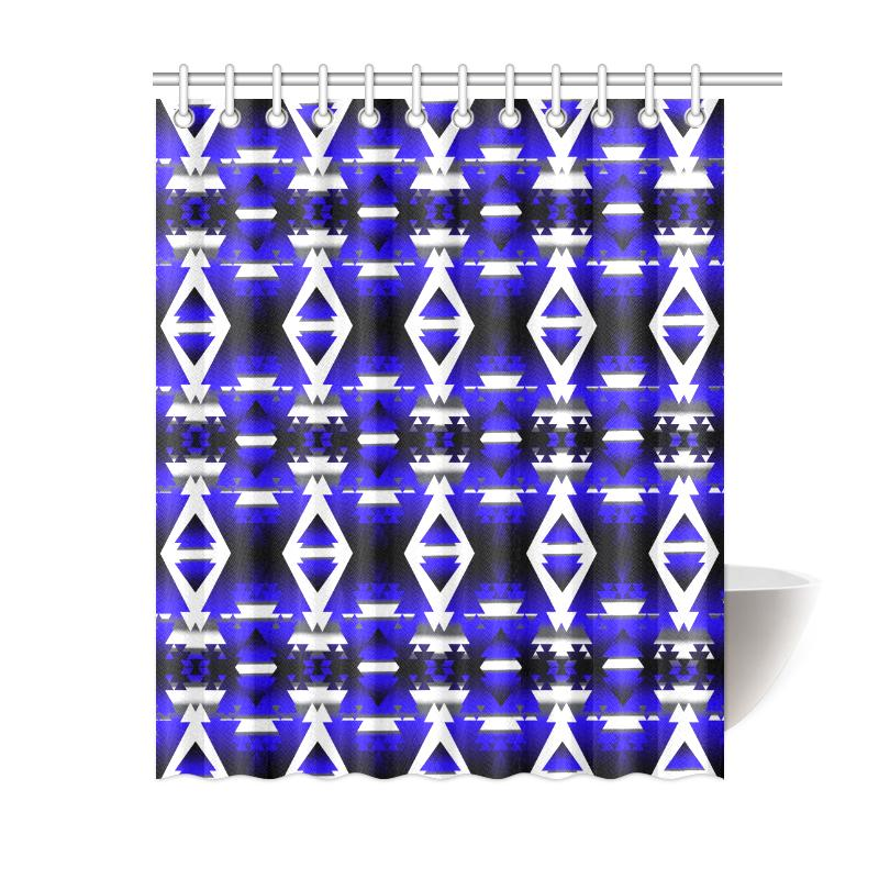 Blue Winter Camp Shower Curtain 60