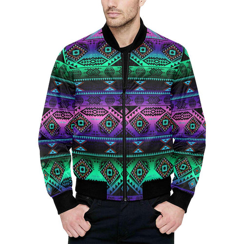 California Coast Sunrise Unisex Heavy Bomber Jacket with Quilted Lining All Over Print Quilted Jacket for Men (H33) e-joyer