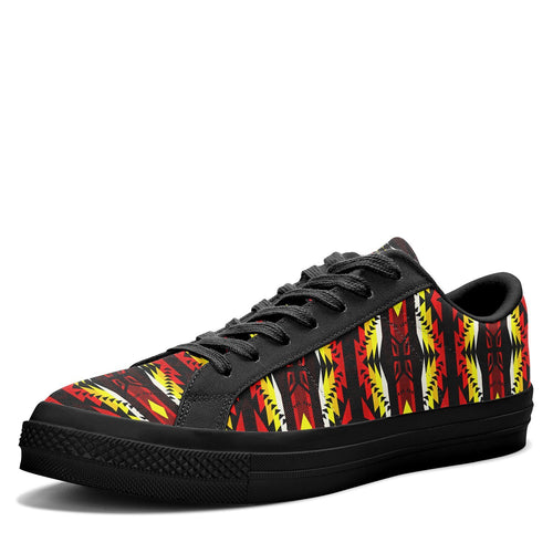 Canyon War Party Aapisi Low Top Canvas Shoes Black Sole 49 Dzine