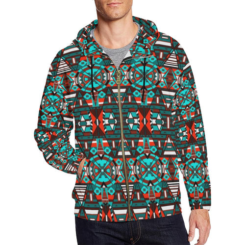 Captive Winter All Over Print Full Zip Hoodie for Men (Model H14) All Over Print Full Zip Hoodie for Men (H14) e-joyer