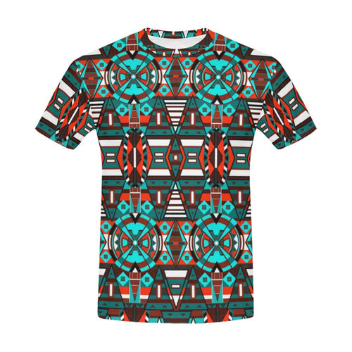 Captive Winter All Over Print T-Shirt for Men (USA Size) (Model T40) All Over Print T-Shirt for Men (T40) e-joyer