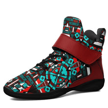 Captive Winter II Kid's Ipottaa Basketball / Sport High Top Shoes 49 Dzine US Child 12.5 / EUR 30 Black Sole with Dark Red Strap