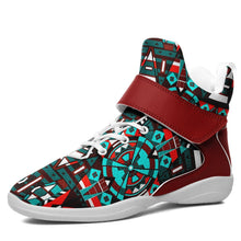 Captive Winter II Kid's Ipottaa Basketball / Sport High Top Shoes 49 Dzine US Child 12.5 / EUR 30 White Sole with Dark Red Strap