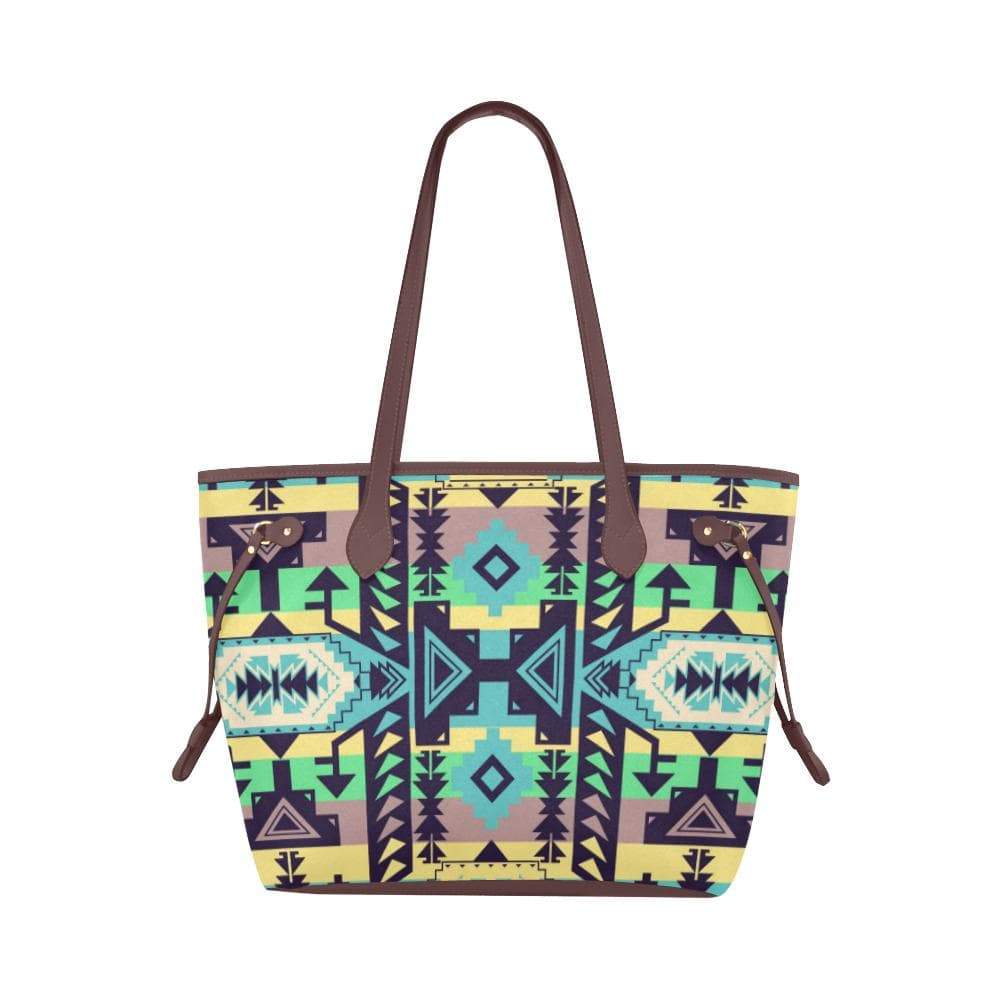 Chiefs Mountain 100 Clover Canvas Tote Bag (Model 1661) Clover Canvas Tote Bag (1661) e-joyer